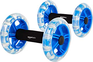 AmazonBasics Excersise Fitness Ab Rollers for Workouts - 2-Pack