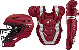 EASTON ELITE X Baseball Catchers Equipment Series Box Set   2020   Helmet   Chest Protector + NOCSAE Commotio Cordis Foam   Leg Guards   NOCSAE Approved For All Levels of Play