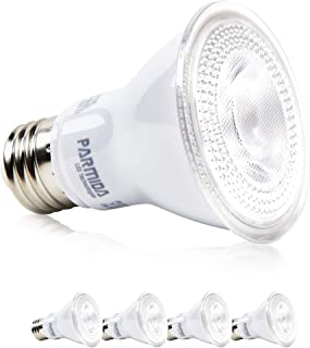 Parmida LED PAR20 Bulb, 7W (50W Equivalent), Dimmable, 500lm, Flood Light Bulb, Indoor/Outdoor, Wet Location Rated, Energy Star, UL-Listed (3000K (Soft White), 4 Pack)