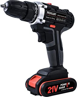 21V Drill Driver, Cordless Drill with 2 Batteries, 30Min Fast Charger 4.0A, 25+1 Torque Setting, 2-Variable Speed Max Torque 550 In-lbs, 3/8