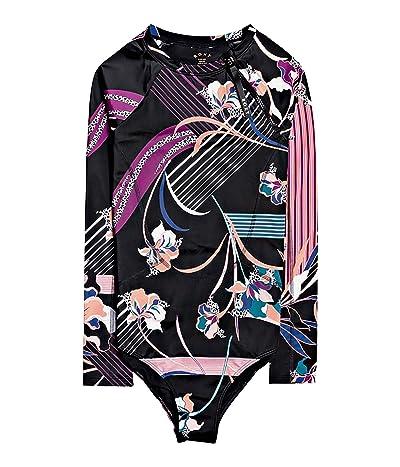 Roxy Pop Surf Long Sleeve One-Piece (True Black/Pop Flowers) Women