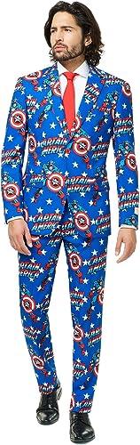 Opposuits Superhero Anzug für Herren Besteeht aus Sakko, Hose und Krawatte - Harry Potter, The Joker, Dark Knight, Spiderman & Marvel