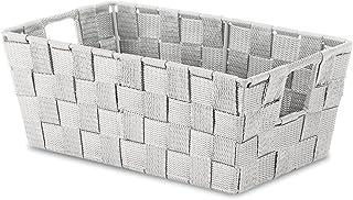 Whitmor Woven Strap Small Shelf Tote Moonstruck Gray