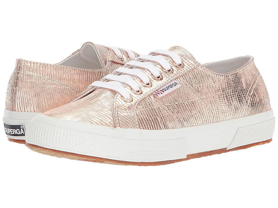 3c5eee32585 Superga 2750 Lizardchromw Sneaker (Rose Gold) Women s Shoes