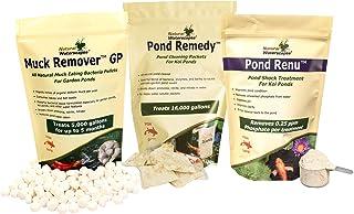 Koi Pond Maintenance Kit   Natural Pond Clarifier, Detoxifier, Sludge Remover for Backyard Pond   Includes Muck Remover GP...