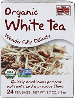 NOW Foods, Organic Delightfully White Tea, 24Count