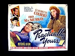 PRACTICALLY YOURS-CLAUDETTE COLBERT-1944-HALF SHEET-1/2 FN