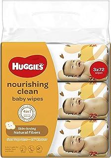 HUGGIES Nourishing Clean Baby Wipes, 72count, (Pack of 3)