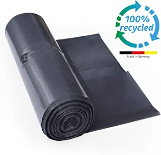 ProfessionalTree Bolsas de basura 120 l - gran resistencia al desgarro - rollo de 25 - Tipo 100 extra - Sacos de basura XXL bolsas de basura - 70 µ - 700 x 1.100 mm - LDPE - negro