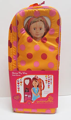 Our Generation Going Our Way Doll Carrier, Dots - For Use with 18 Inch Dolls by Our Generation