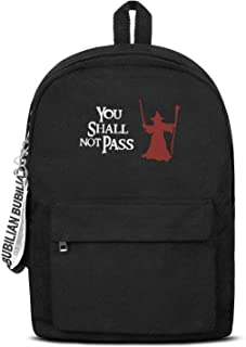 Perfect For Lord Of The Rings Lovers Bag Unisex Water Resistant Canvas Rucksack Grocery For Men Women And Kids