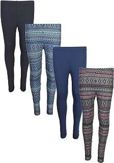 4496e0ae55486 Star Ride Girl's (4-Pack) Basic Yummy Active Leggings (Solids & Prints