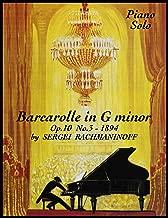 Barcarolle in G minor Op.10 No. 3 - Piano Solo