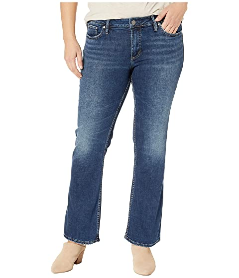 eaf8e5137dc Silver Jeans Co. Plus Size Suki Mid-Rise Curvy Fit Slim Boot Jeans in Indigo
