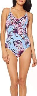 Women's V Neck One Piece Swimsuit Bathing Suit