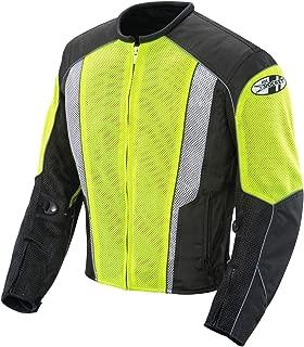 Joe Rocket 851-4603 Phoenix 5.0 Men's Mesh Motorcycle Riding Jacket (Hi-Vis Neon/Black, Medium)