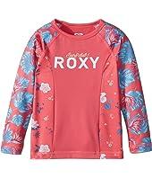 Roxy Kids Simply Roxy Long Sleeve Rashguard (Toddler/Little Kids/Big Kids)