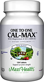 Maxi Health One to One CalMax - Calcium Citrate - with Vitamin D3 & Magnesium - 120 Tablets - Kosher