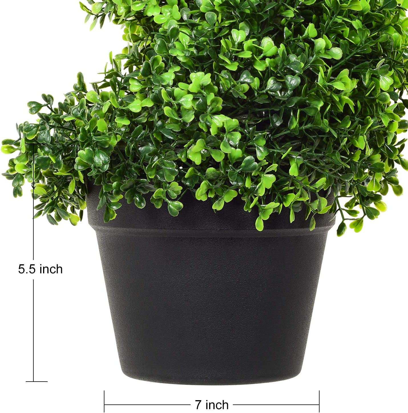 DearHouse 4 Feet Artificial Cypress Spiral Topiary Trees, 2Pack Potted Indoor or Outdoor Spiral Boxwood Trees -