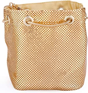 Mesh Chain Mail Bucket Bag Shoulder Bags crossbody bag for Women Metal Mesh Evening Handbags Clutch Purses