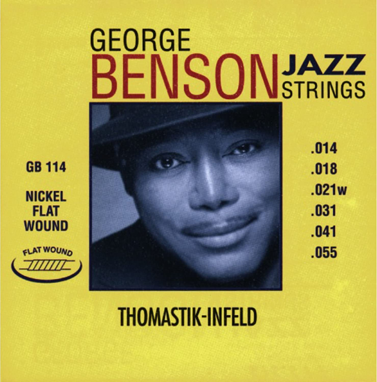 Thomastik Cuerdas para Guitarra Eléctrica George Benson Jazz Guitar juego GR112 Medium Light niquel entorchado redondo .012 -.053