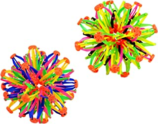 Set of 2 Colorful Expandable Sphere Balls Toy~Hand Catch Flower Balls~Great Gift for Kids!