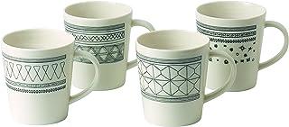 Royal Doulton 40030152 Ellen DeGeneres Charcoal Grey Mug 475ml, Set of 4, Porcelain