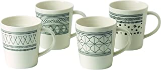 Royal Doulton 40030152 Gift Set Ellen DeGeneres Charcoal Grey Mug 475ml, Set of 4, Multi