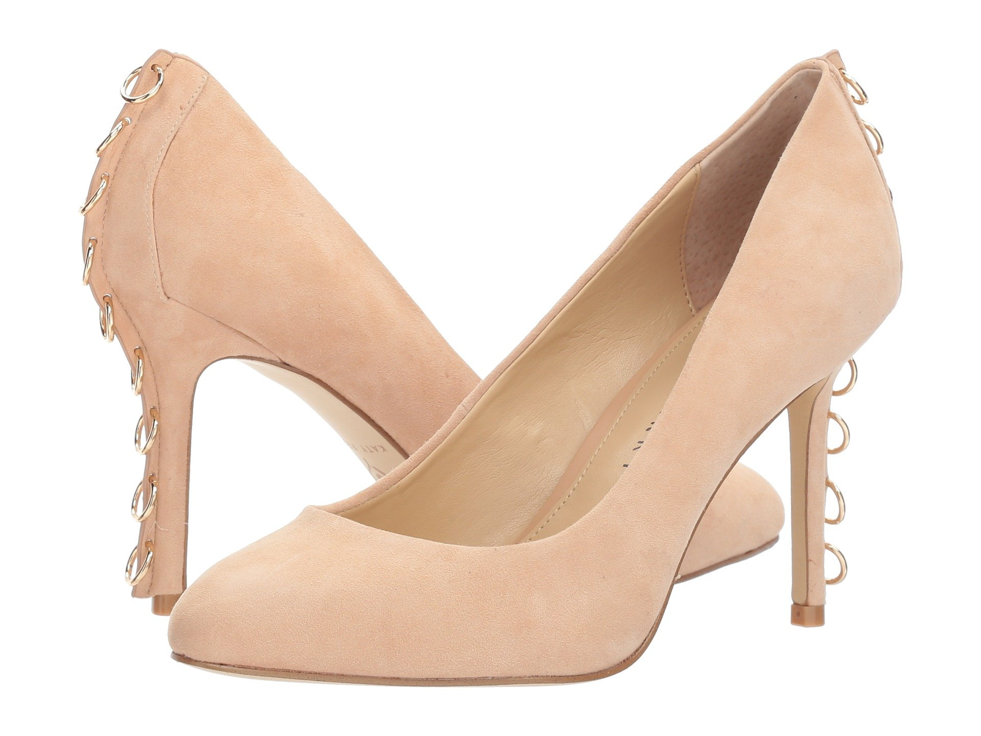 The Chrissie, Blush/Nude Suede/Gold Piercing