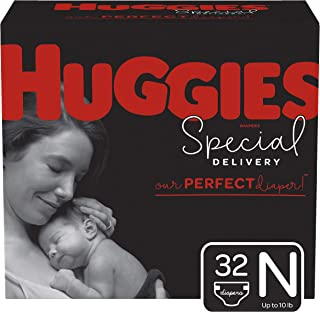 Huggies Special Delivery Hypoallergenic Diapers, Size Newborn (up to 10 lb.), 32 Ct, Jumbo Pack