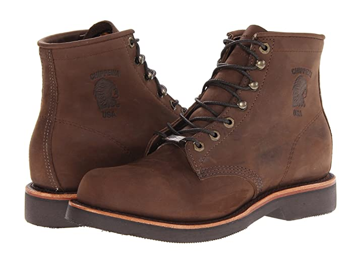 Chippewa American Handcrafted GQ Apache Lacer Boot (Brown) Men's Work Lace-up Boots