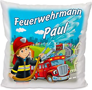 Kissen mit Stick Feuerwehr  NEU