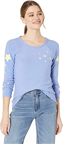 Candy Stars Cozy Knit Long Sleeve Raglan
