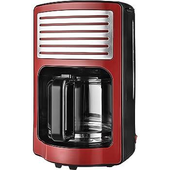 Team Kalorik Cafetera de filtro con capacidad de 1,8 L, Jarra de vidrio, Hasta 15 tazas, 1000 W, Rojo, TKG CM 2500 R: Amazon.es: Hogar