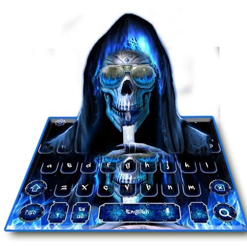 Neon Grim Reaper Keyboard Theme