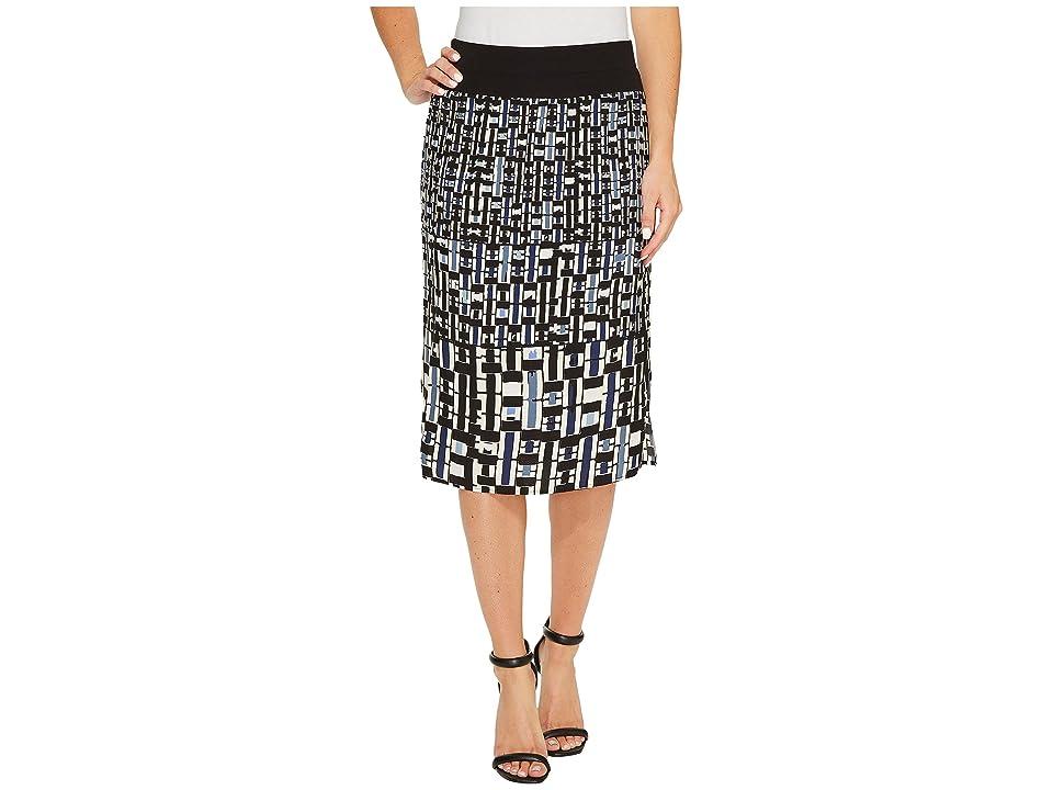 NIC+ZOE Check Mix Skirt (Multi) Women