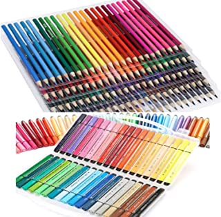 50 Pre-Sharpened wooden Color Pencils and 24 washable color Marker Set for Kids Adults Artist, Art Drawing Sketching Writing