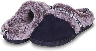 Floopi Womens Indoor Outdoor Soft Velvet Plush Fur Lined Clog Slipper W/Memory Foam