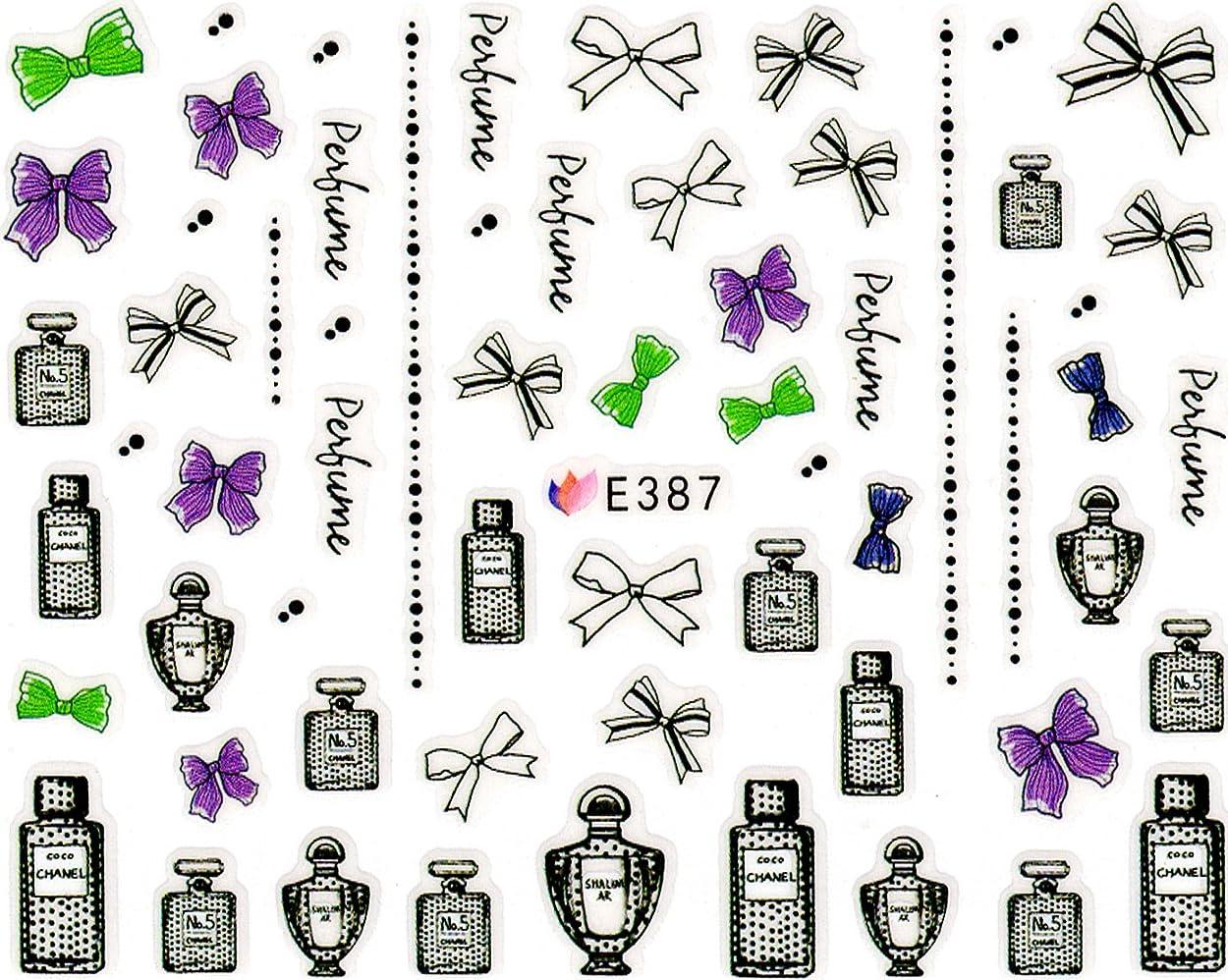ライブタイプライター原子ネイルシール 宝石 ダイヤ 香水 パフューム コロン 選べる5種類 (04-T59)