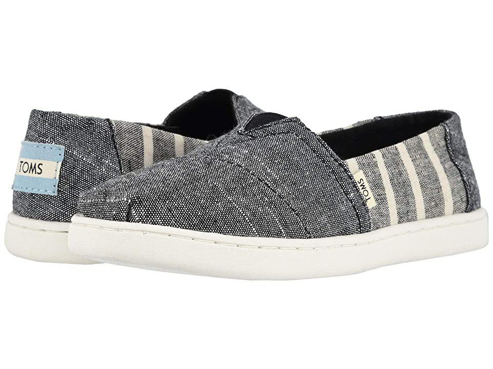 b396f56be72d TOMS Kids Alpargata (Little Kid Big Kid) (Black Cabana Stripe) Boy s Shoes