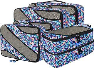 Bagail 6 Set Packing Cubes,3 Various Sizes Travel Luggage Packing Organizers(Mozaic)