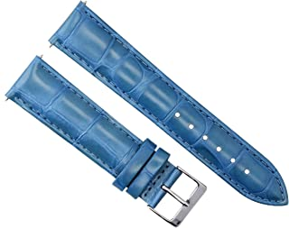20MM LEATHER WATCH STRAP BAND FOR OMEGA SEAMASTER PLANET AQUA TERRA WATCH L/BLUE