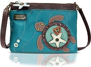 Chala Mini Crossbody Handbag, Multi Zipper, Pu Leather, Small Shoulder Purse Adjustable Strap