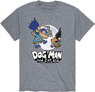 Dog Man and Cat Kid w/Moon - Adult Short Sleeve Tee