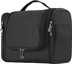 Extra Large Capacity Hanging Toiletry Bag for Men & Women, Portable Waterproof Bathroom Shower Bag, Lightweight Dopp kit Shaving Bag, Sturdy Metal Hook Organizer Makeup Bag