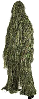 Nitehawk Adults Military 3D Ghillie Suit, Woodland Camouflage in M/L and XL/XXL, Includes Jacket, Trousers, Mask, Rifle Wrap and Carry Bag