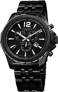 Akribos XXIV Men's AK662 Ultimate Swiss Quartz Chronograph Colored Dial Stainless Steel Bracelet Watch