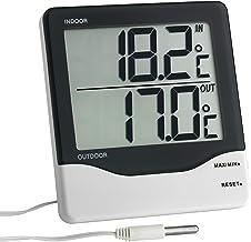 TFA Dostmann Digitale binnen- en buitenthermometer, 30.1011, groot display, maximale en lage waarden, binnen- en buitentem...