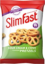 SlimFast Sour Cream Pretzel Snack Bag, 23 g, Pack of 12