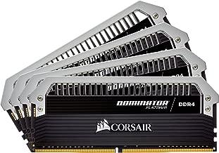 CORSAIR Dominator Platinum 32GB (4x8GB) DDR4 2666MHz C15 Desktop Memory